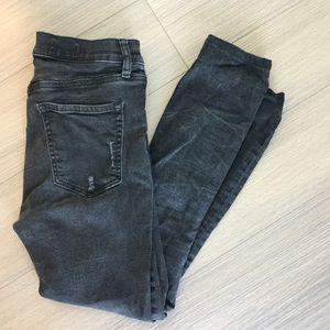 Gap skinny jeans, hemmed to fit 5'2